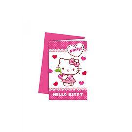 Hello Kitty Hearts Davetiye Set 6'lı