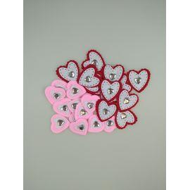 Kalp Sticker Taşlı Keçe  26'lı