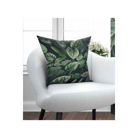 Else Yeşil Yapraklar 3D Modern Dekoratif Kırlent Yastık Kılıfı 45X45Cm