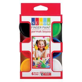 Parmak Boyası 6' Lı Takım 30 ml, Renk : Karışık, Çok Renkli