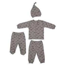 Bebek Gri Pijama Takımı 2069, Beden: 3-6 Ay, Renk : Cok Renkli
