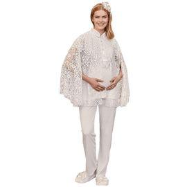 Mecit 5203 Bayan Hamile Lohusa Panço Sabahlık Pijama Takımı, Beden (anne): L, Renk : Pudra