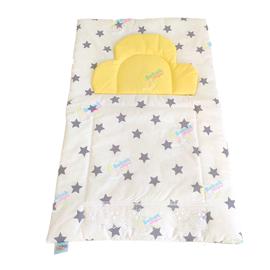 Bebekatölyesi Altaçma Minderi  Gri Yıldız Desenli Sarı Kombin