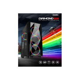 Mid Tower 500w Dıamond Pro Dkchdıamondpro500 Atx Pc Kasası Pencereli Siyah