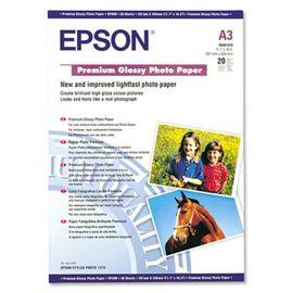 Epson A3 255Gram 20'li Premium Glossy Fotoğraf Kağıdı S041315