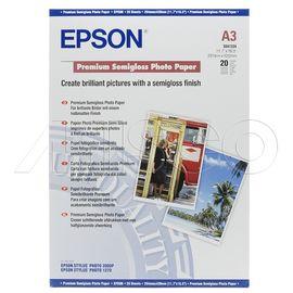 Epson A3 251Gram 20'li Premium Semigloss Fotoğraf Kağıdı S041334