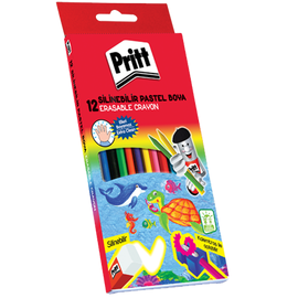 Pritt Mum Pastel Boya Crayon Karton Kutu Silinebilir 12 Renk 1433960