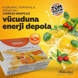 Hekimhan Complex Kuşburnu Portakal  & Ekinezyalı Drops