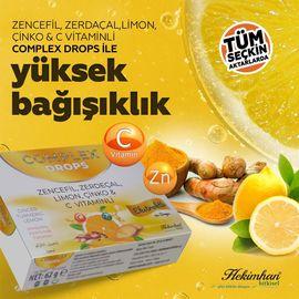 Hekimhan Complex Zencefil Zerdeçal  Limon Çinko & C Vitaminli Dro