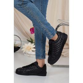 Mona St Kadın Günlük Ve Spor Ayakkabı Siyah, Renk : Siyah-ST, Numara: 39