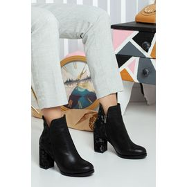 Victoria St Cilt Kadın Topuklu Bot Siyah, Renk : Siyah-Cilt-ST, Numara: 39