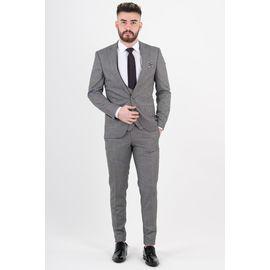 Slimfit Takım Elbise, Beden: 58-6 Drop, Renk : Gri