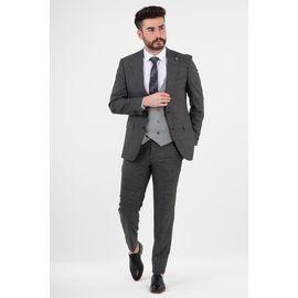 Yelekli Takım Elbise, Beden: 58-6 Drop, Renk : Gri