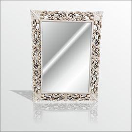 45x60cm Eskitme Rustik İşlemeli Krem Boy Banyo Duvar Salon Aynası