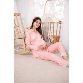Kadın Lohusa Hamile Pijama Takımı 16018, Beden (anne): M