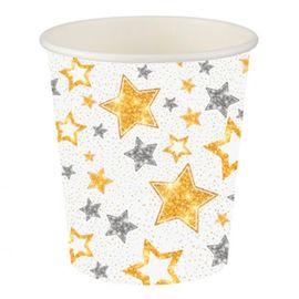 Yıldızlar Beyaz Karton Bardak 200cc 8oz 8li