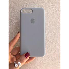 Iphone 7/8 Plus Logolu Iç Yüzeyi Kadife Tam Koruma Silikon Lansman Kılıf, Renk : Açık Gri