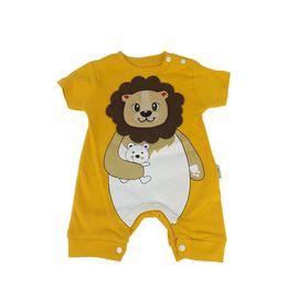 Erkek Bebek Hardal Aslan Figürlü Tulum, Beden: 6 ay