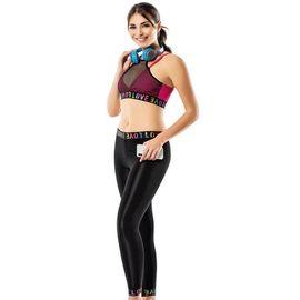 Kadın Spor Tayt Takım - Rnldry10537, Beden : L/XL, Renk : Siyah