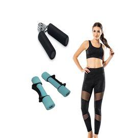 3 Lü Kadın Sporcu Seti - Rnlrnl10538, Beden : L/XL, Renk : Siyah