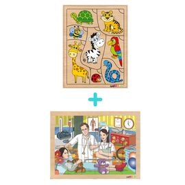 Ahşap Eğitici Puzzle 2'li Set