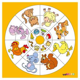 Dairesel Temalar Hangisi Ne Yer Ahşap Puzzle 35x35 Cm