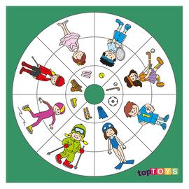 Dairesel Temalar Spor Ahşap Puzzle 35x35 Cm