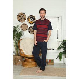 Erkek Kısa Kol Pijama Takımı 7785, Beden: M, Renk : KARIŞIK