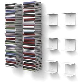 3 Adet Metal Kitap Tutacağı, Metal Duvar Rafı, Duvar Organizatörü (3 Adet Siyah)