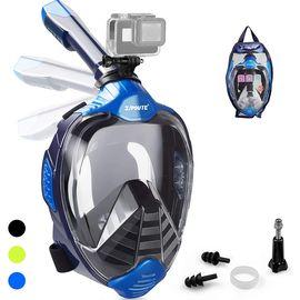 ZIPOUTE Şnorkel Maskesi Tam Yüz, Tam Yüz Şnorkel Maskesi