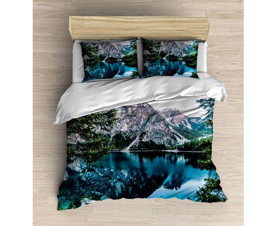 Buzul Dağ Gölet 3d Desenli Çift Kişilik Nevresim Takımı