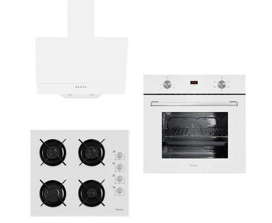 Ferre 6009 - B2140 - D004 New Italiano Beyaz Ankastre Set